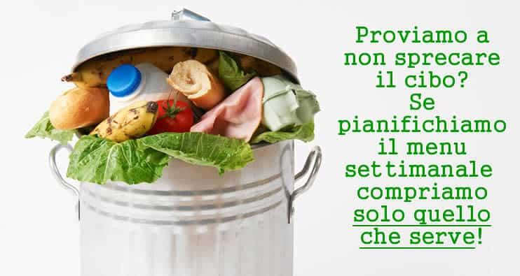spreco-alimentare-menù-settimanale